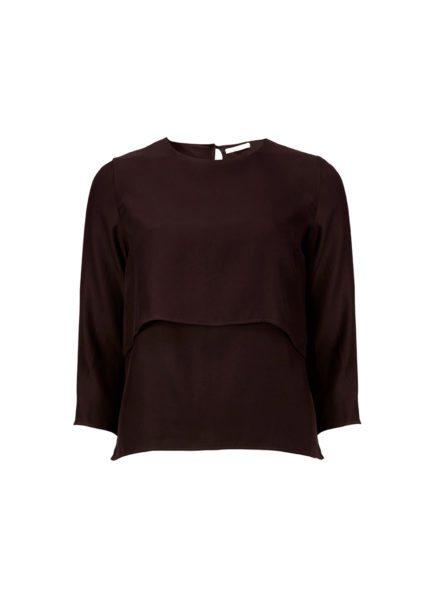 Lilja blouse maroon