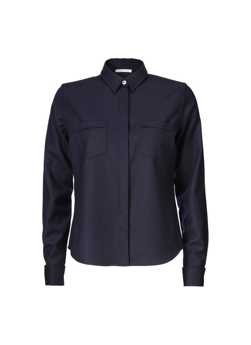 Erin Shirt wool dark blue